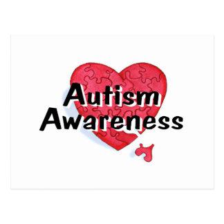 Autism Awareness (Hrt P) Postcard