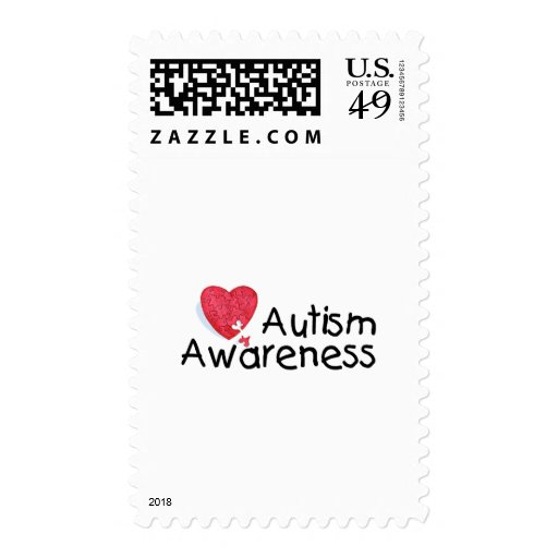 Autism Awareness (Hrt P) Stamp