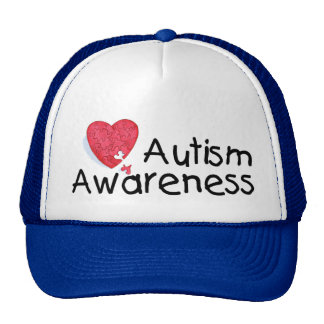 Autism Awareness (Hrt P) Trucker Hat