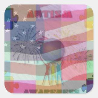 Autism Awareness In America Sticker