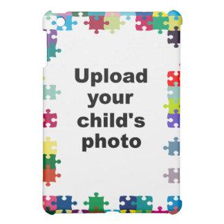 Autism Awareness iPad Case Puzzle Frame Customize