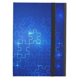 Autism Awareness iPad Powis Case Blue Puzzle