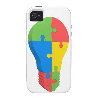 Autism Awareness iPhone4 Case Multicolor Lightbulb