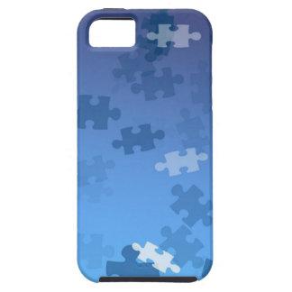 Autism Awareness iPhone 5 Case Blue Puzzles