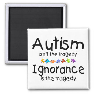 Autism Awareness Isnt The Tragedy 2 Inch Square Magnet