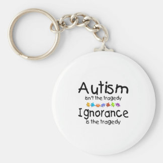Autism Awareness Isnt The Tragedy Basic Round Button Keychain
