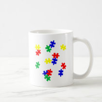 AUTISM AWARENESS ITEMS, puzzle pieces products Coffee Mug