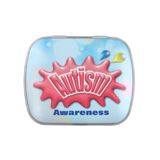 Autism awareness  Jelly Belly™ Candy Tin