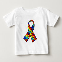 Autism Awareness Jigsaw Puzzle Ribbon Products Baby T-Shirt