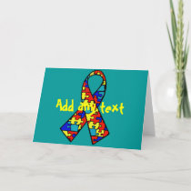 Autism Awareness Jigsaw Puzzle Ribbon Products Card