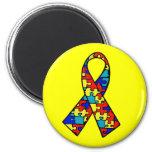 Autism Awareness Jigsaw Puzzle Ribbon Products Fridge Magnets