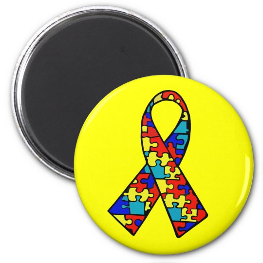 Autism Awareness Jigsaw Puzzle Ribbon Products Magnet