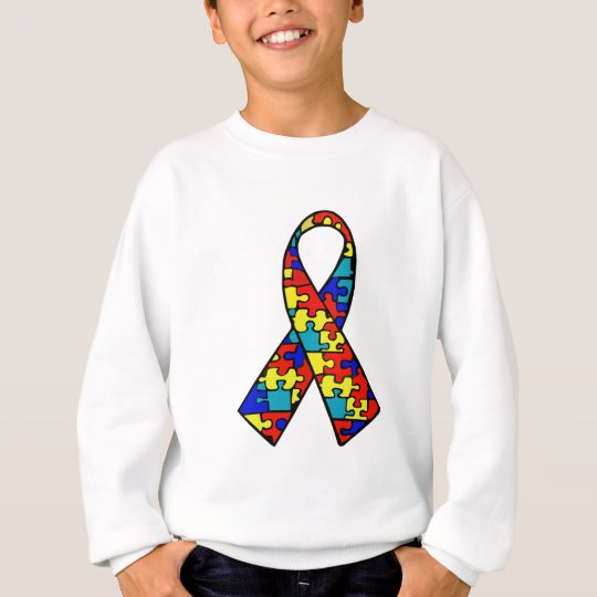 Autism Awareness Jigsaw Puzzle Ribbon Products Sweatshirt