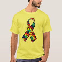 Autism Awareness Jigsaw Puzzle Ribbon Products T-Shirt