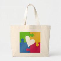 Autism Awareness Jumbo Tote Bag
