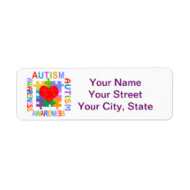 Autism Awareness Label