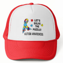 Autism Awareness: Let's Solve the Puzzle! Trucker Hat