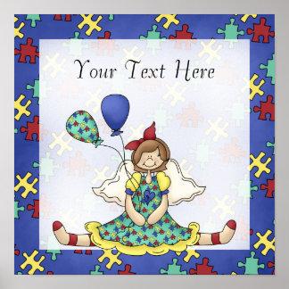 Autism Awareness ~ Little Angel Girl D1 Print