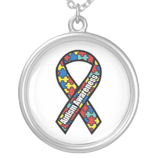 Autism Awareness Logo Silver Plated Necklace
