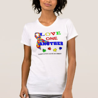 Autism Awareness Love one another T-Shirt