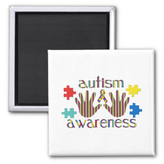 Autism Awareness 2 Inch Square Magnet