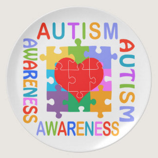 Autism Awareness Melamine Plate