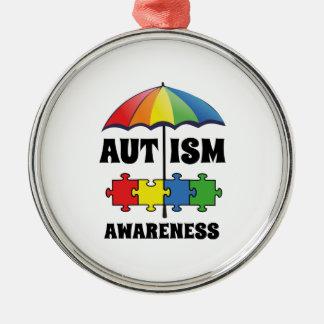 Autism Awareness Metal Ornament