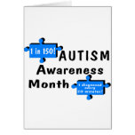 Autism Awareness Month (1 in 150 1 Every 20 Min) Cards