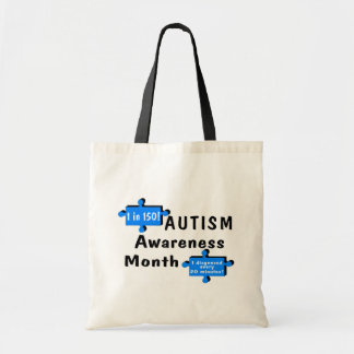 Autism Awareness Month (1 in 150 1 Every 20 Min) Tote Bag