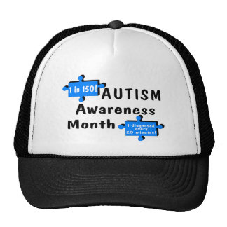 Autism Awareness Month (1 in 150 1 Every 20 Min) Trucker Hat