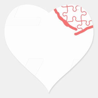 Autism Awareness Month 2017 Heart Sticker