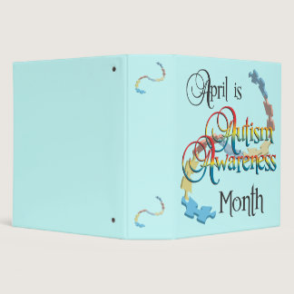 "Autism Awareness Month 2"" Binder"