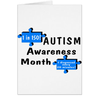 Autism Awareness Month (2 Pieces) Card