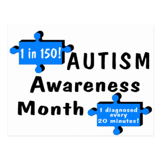 Autism Awareness Month (2 Pieces) Postcard