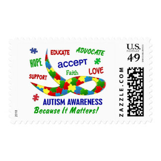 AUTISM AWARENESS MONTH APRIL POSTAGE