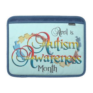 Autism Awareness Month Blue MacBook Air Sleeve