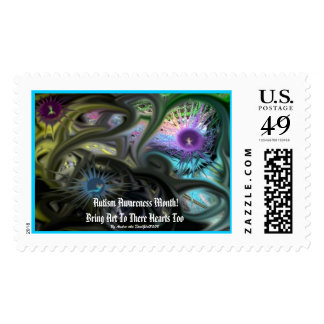 Autism Awareness Month! , Bri... Postage Stamps
