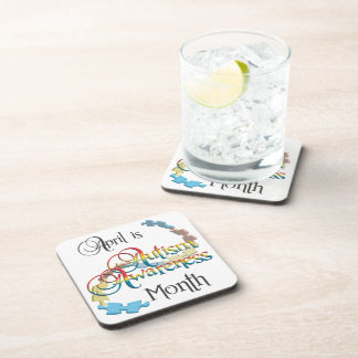 Autism Awareness Month Cork Coaster