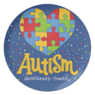 autism awareness month dinner plate