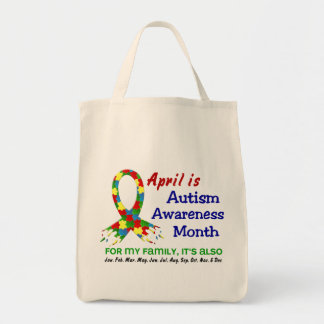 AUTISM AWARENESS MONTH EVERY MONTH GROCERY TOTE BAG