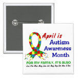 AUTISM AWARENESS MONTH EVERY MONTH PINBACK BUTTON