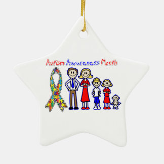 Autism Awareness Month Family Support Ceramic Ornament