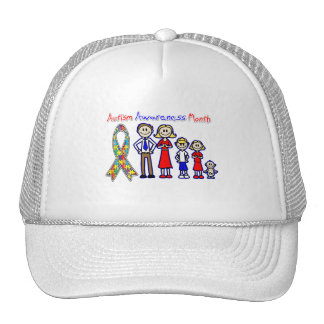 Autism Awareness Month Family Support Mesh Hat