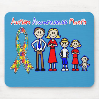 Autism Awareness Month Family Support Mouse Pads