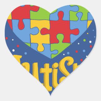 autism awareness month heart sticker