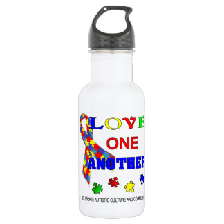 Autism awareness Month Logo Stainless Steel Water Bottle