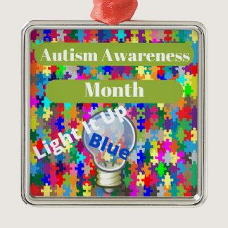 Autism Awareness Month Metal Ornament
