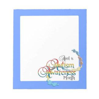 Autism Awareness Month Notepad