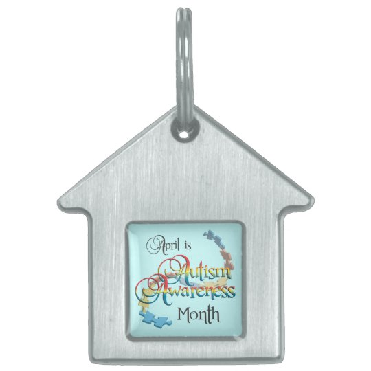 Autism Awareness Month Pet Tag