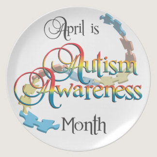 Autism Awareness Month Plate